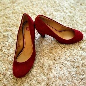 bp brand red suede cone shaped heel! EUC 7.5